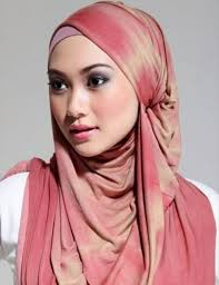 Traditional hijab worn by Muslim women.